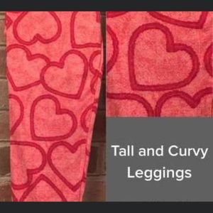 Lularoe Valentine's Day TC leggings -  BRAND NEW!